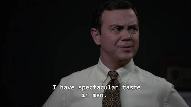 Charles Boyle: I have spectacular taste in men.